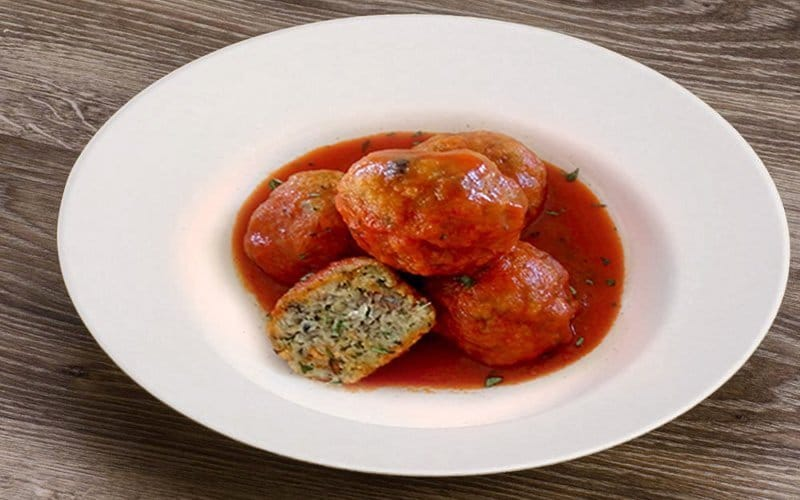 beautiful sardin fish balls in tomato sauce