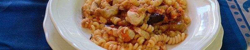 plate of pasta spada and melanzane