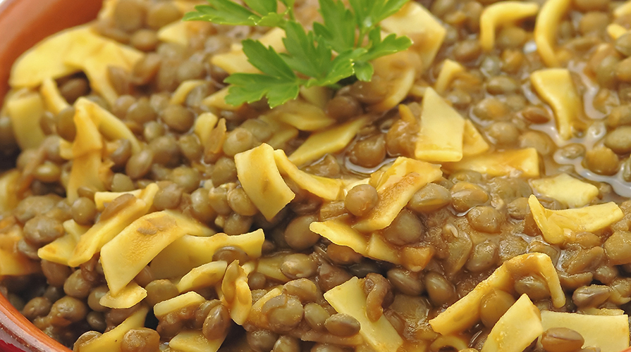 pasta and lentil, winter delight