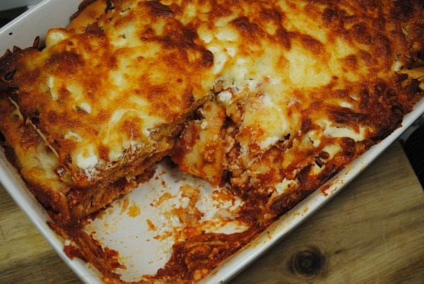 leftover lasagna, Monday lunch